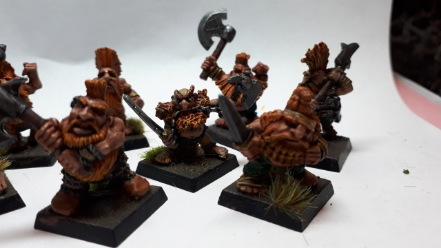 Closeup of dwarf slayers