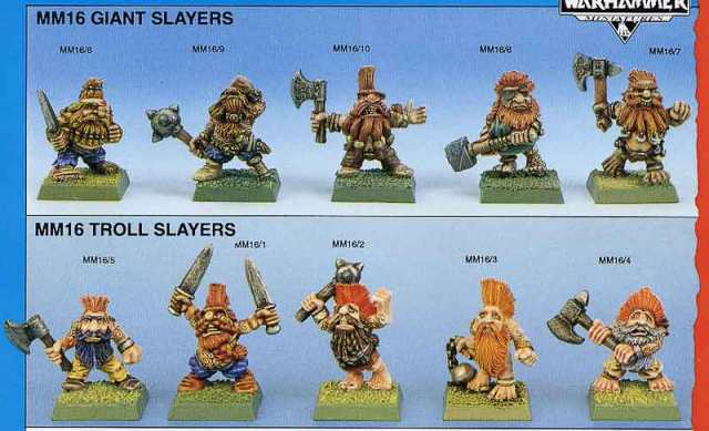 MM16 Giant Slayers catalogue page