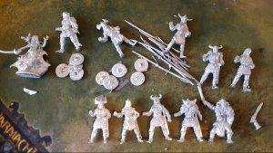 11 unpainted Lucid Eye Elves in bits