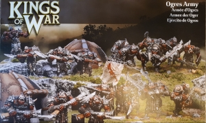 Kings of War Ogre box cover image of 19 ogres