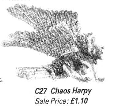 Citadel C27 Chaos Harpy catalogue image side view
