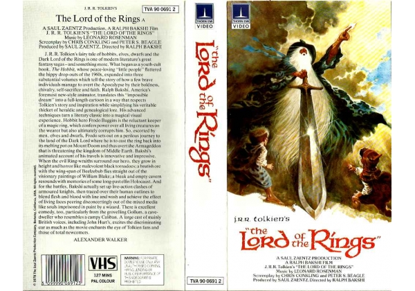 Original box cover Lord of the Rings 1978 Ralph Bakshi