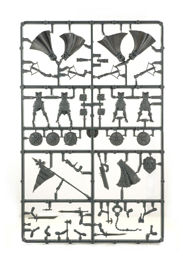 Unpainted sprue image of Shieldmaiden parts