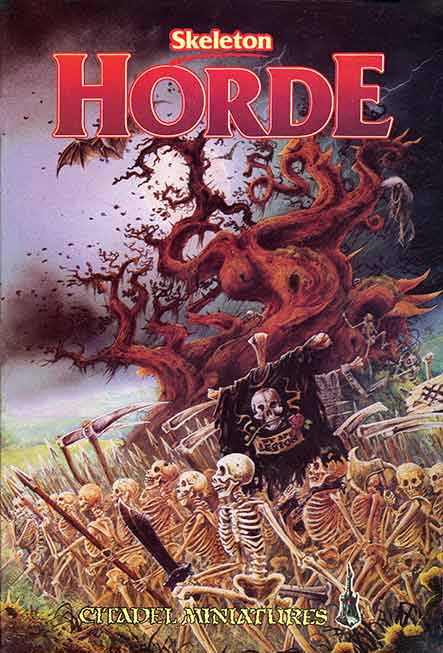John Blanche We are Legion artwork for Skeleton Horde box set