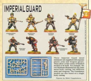 Rogue Trader Imperial Guard Colonel, Sergeant, Captain, Orderly, Penitent and Guardsmen advert