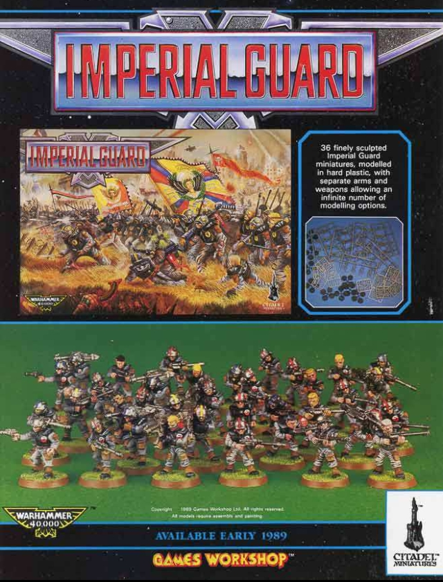 RTB7 Imperial Guard Plastic Box Set advert WD109