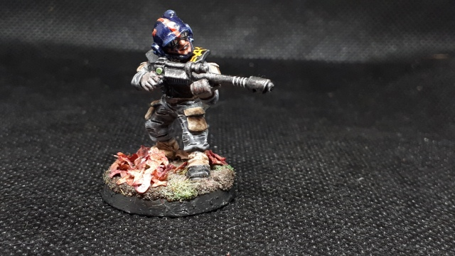 RTB7 Plastic Imperial Guardsman in 5th Arcadian uniform