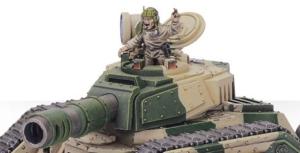 Leman Russ Battletank turret closeup