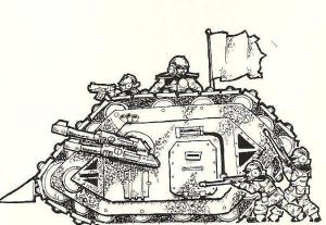 Imperial Guard Land Raider Illustration