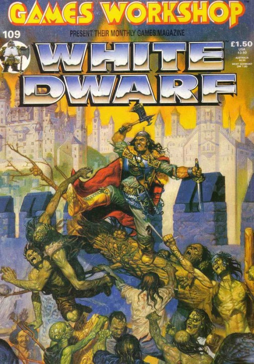 White Dwarf 109 Cover Artwork Death on the Reik