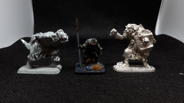 Mithril Cave Troll, OM Gobin, Ral Partha (Bob Olley) troll.