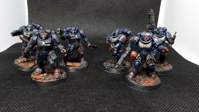 3 Crimson Fist Reivers 3 Crimson Fist Intercessors