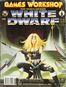 White Dwarf 126 Cover: Amazonian Warror and Wizard