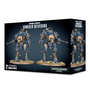 Imperial Knight Armiger Helverin box cover depicting two knights