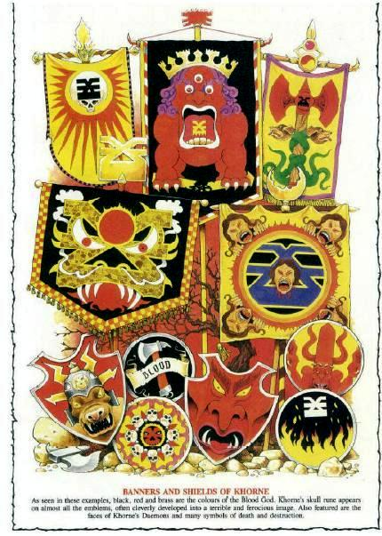 Banners and Shields of Khorne