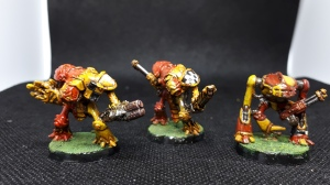 Three epic knights in House Warwick colours