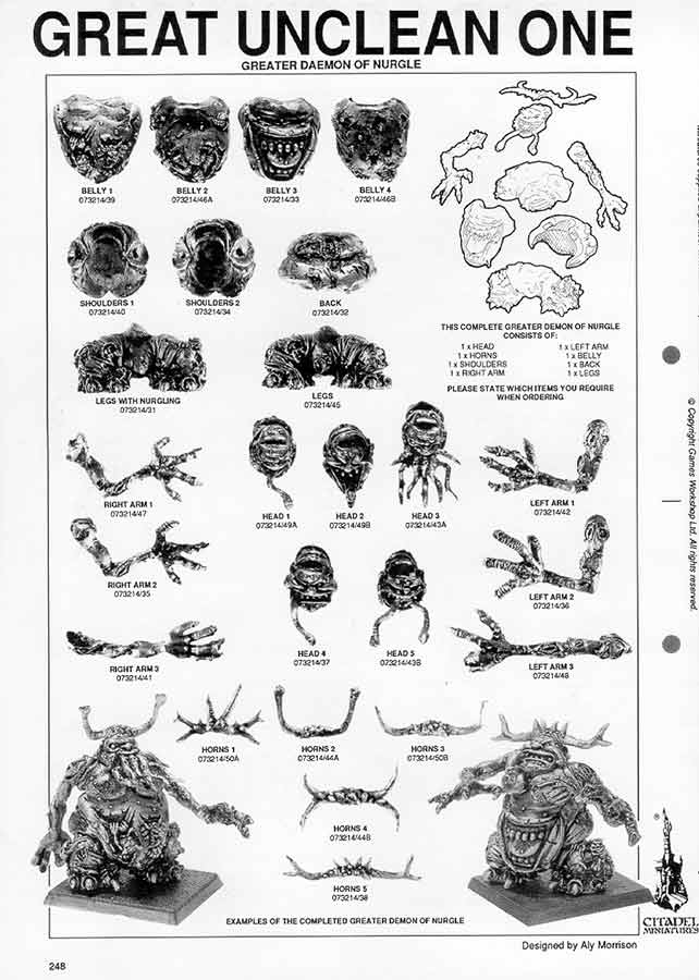Great Unclean One Catalogue Page