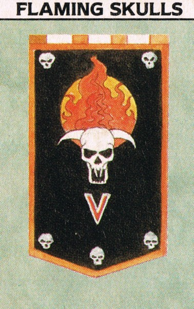 Traitor Flaming Skulls WD108