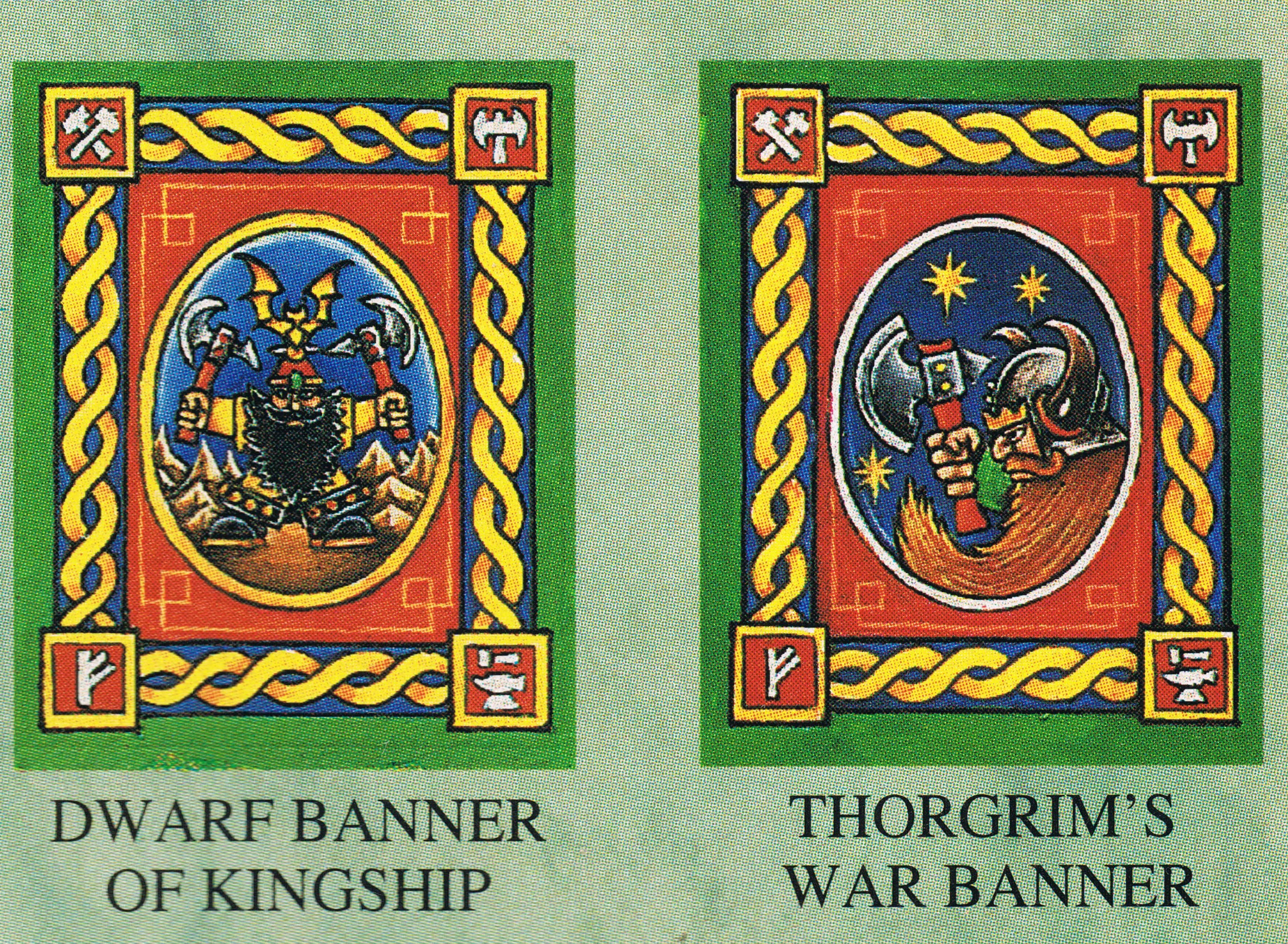 Dwarf throne of power banners