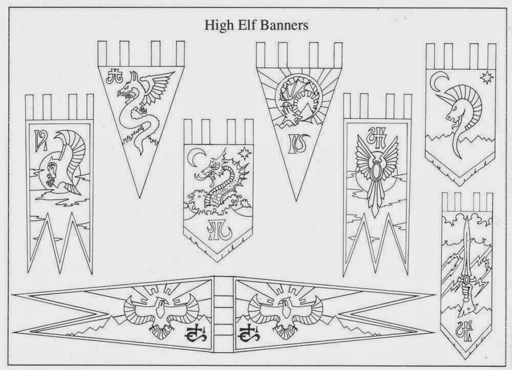 High Elf Banners 5th Ed. Army Book 1993
