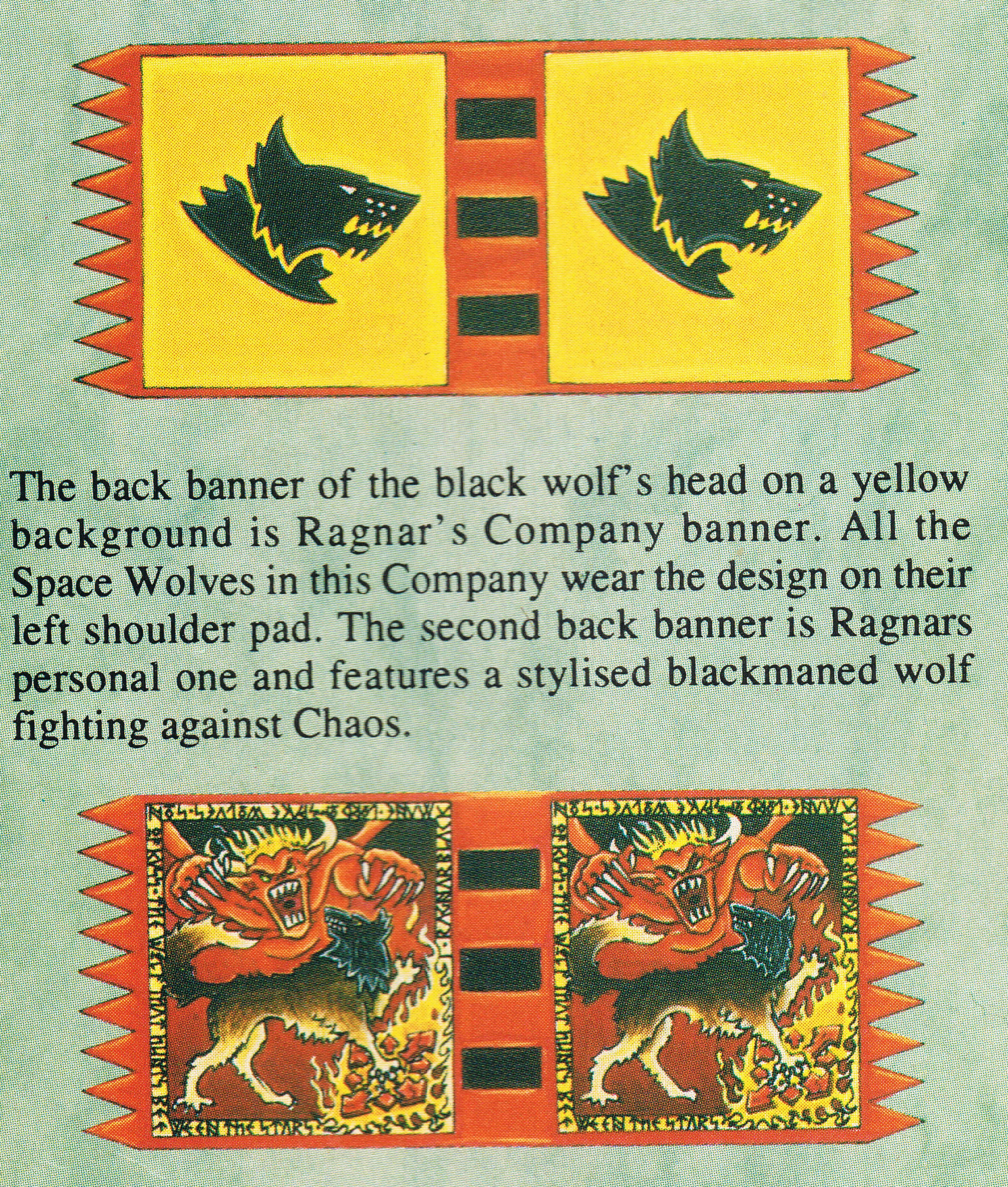 Ragnar Blackmane Wolf Lord Banners WD154
