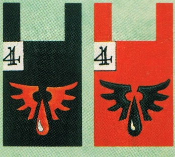 Space Marine Blood angels WD159 back banners