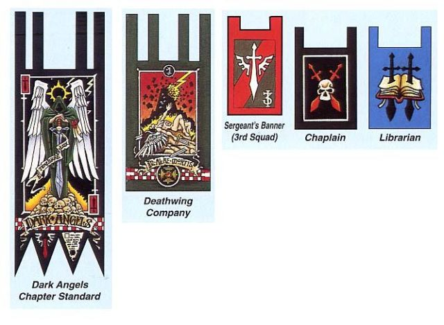 Space Marine Dark Angels banners