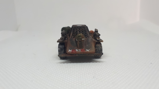 Maniax Renegade Car, Dark Future, Games Workshop Front view