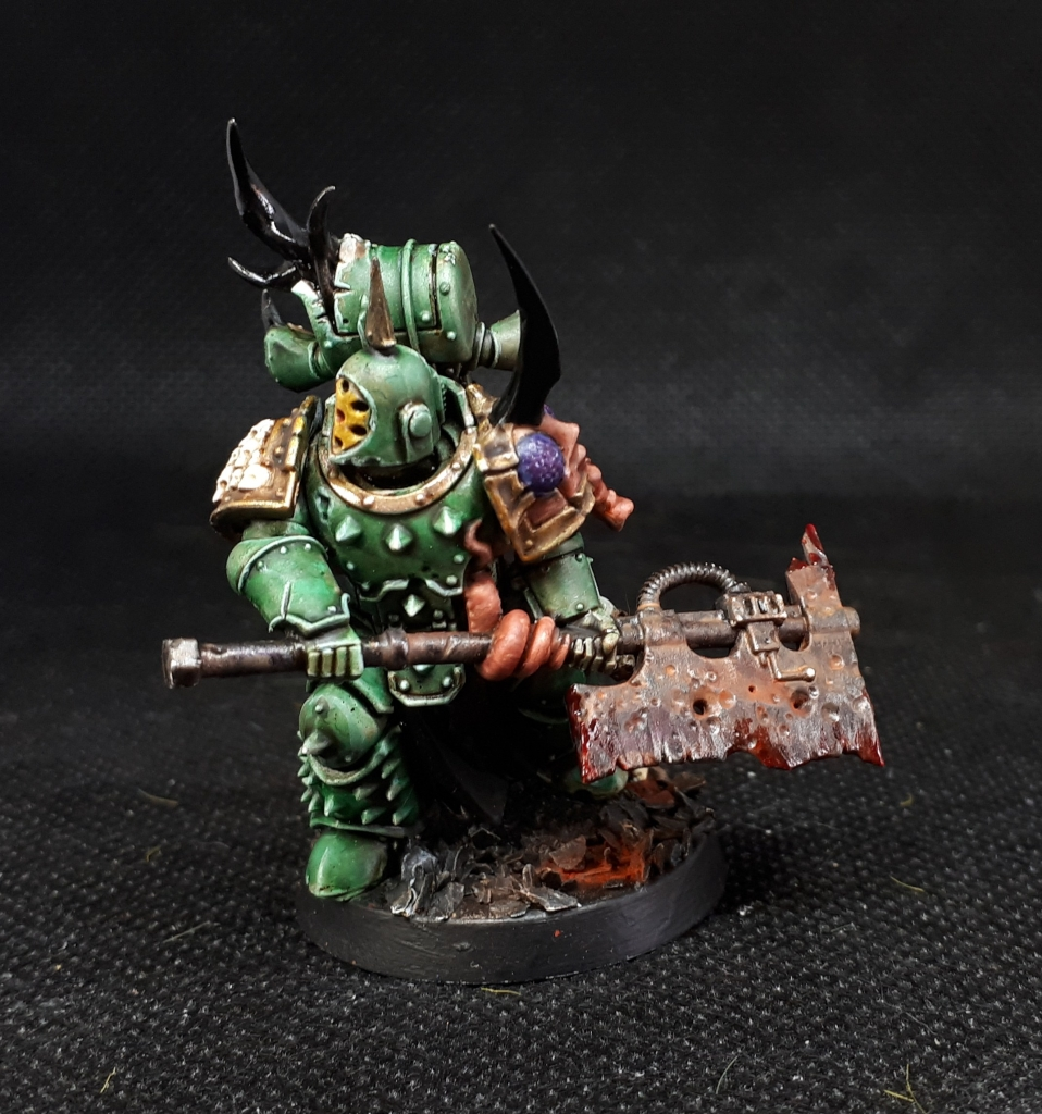Plague Marine with Great Plague Cleaver side view
