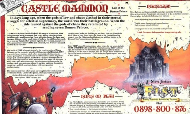 Advertorial for FIST: Castle Mammon, by Steve Jackson Games