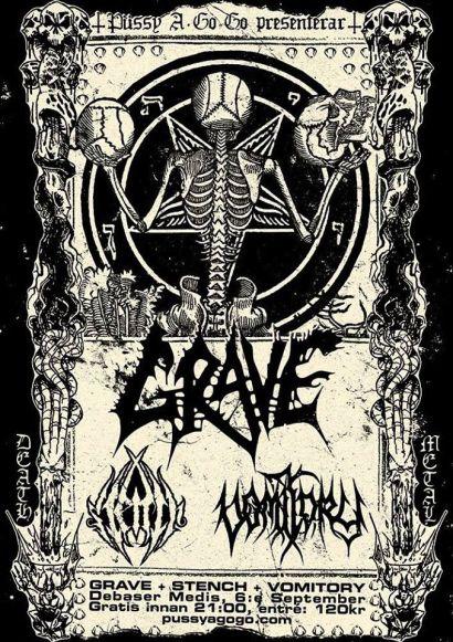 Grave/Stench/Vomitory gig Flyer