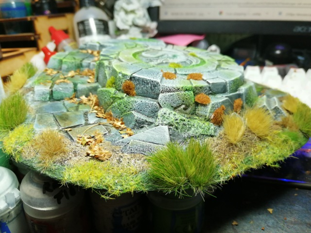 Seal of the Dragon Terrain piece re-painted, flocked and tufted
