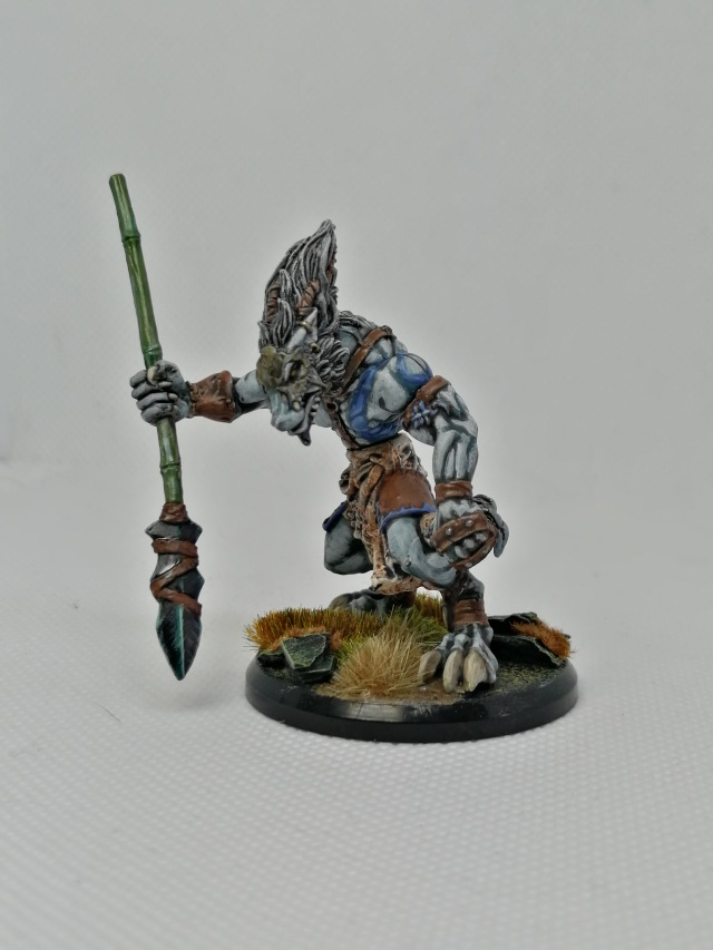 Serethis, Wolfen Hunter Unit Leader repainted by Lead Mountain Widow front view