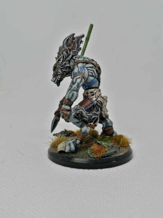 Serethis, Wolfen Hunter Unit Leader repainted by Lead Mountain Widow side view