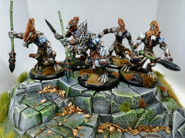 Wolfen Hunters repainted by Lead Mountain Widow on repainted Seal of the Dragon terrain element