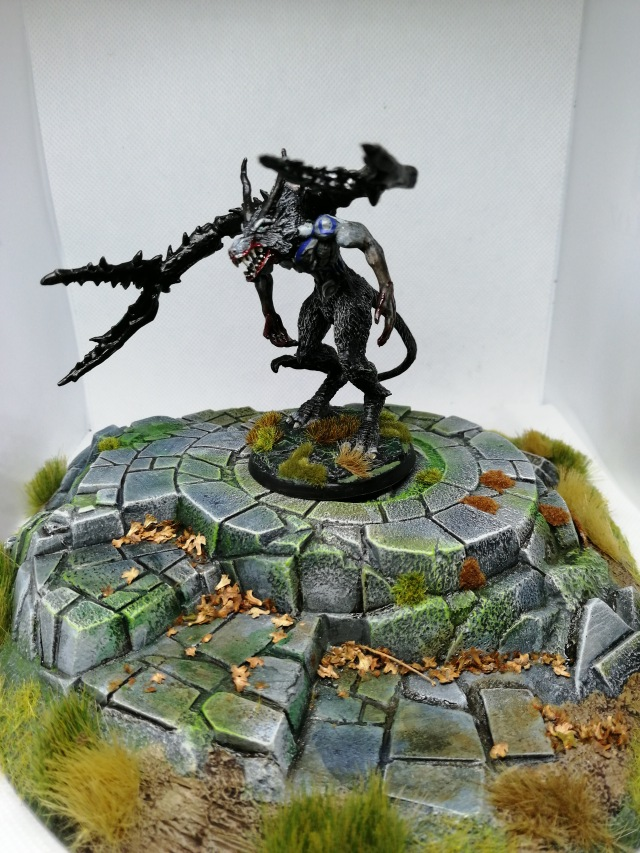 Reaper Miniatures Bones Wolf Demon painted by Lead Mountain Widow