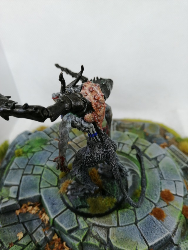 Reaper Miniatures Bones Wolf Demon painted by Lead Mountain Widow rear view